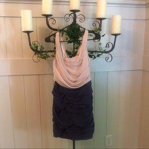Two tone sleeveless Express scrunch dress size 4